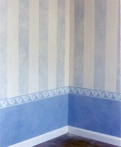 Faux finishing Stripes - striped wall