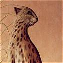 Leopard mural on a Pedestal